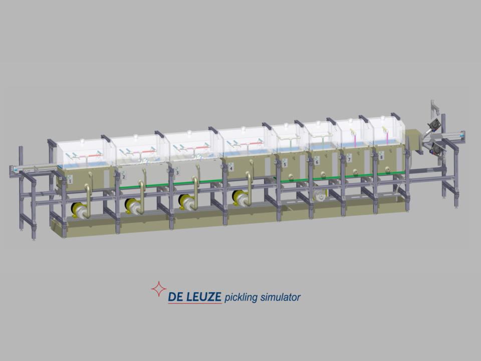 De Leuze pickling simulator to reduce customer claims