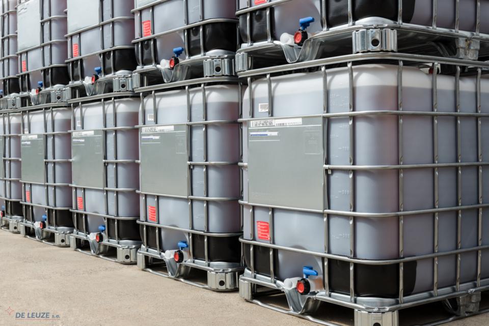 De Leuze stock IBC containers with Leuzolit® overpickling inhibitor